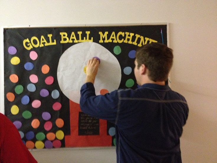 Resident assistant bulletin board on goal setting. Bethany college, West Virginia. Via Jesse Penatzer sophomore RA 2013