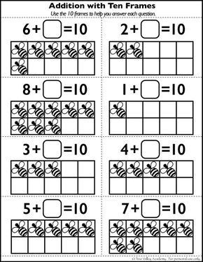 Free Number Bonds to 10 Worksheet