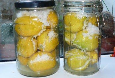 Outras Comidas: Limões em conserva