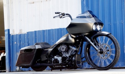 "Harley Davidson ""Budget Bagger"" designed and built by Matt Hotch."