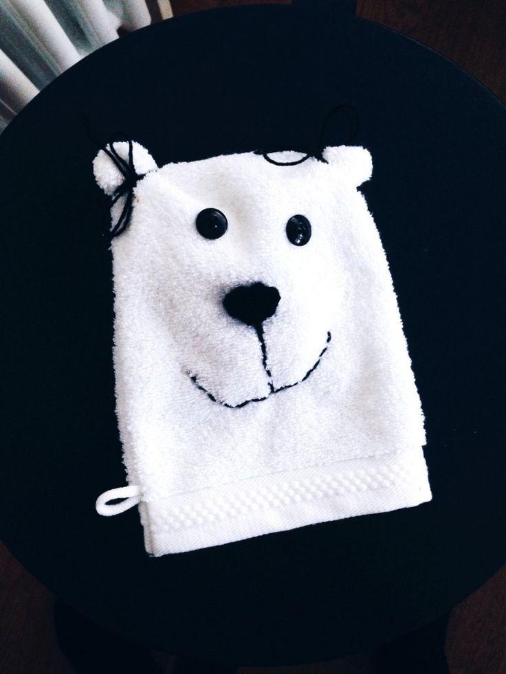 Waschlappen Tier // Hallo ich bin ein Eisbär // DIY von knobz