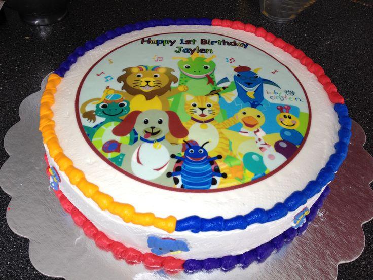 Baby einstein cake i made for jays 1st birthday baby for Baby einstein decoration