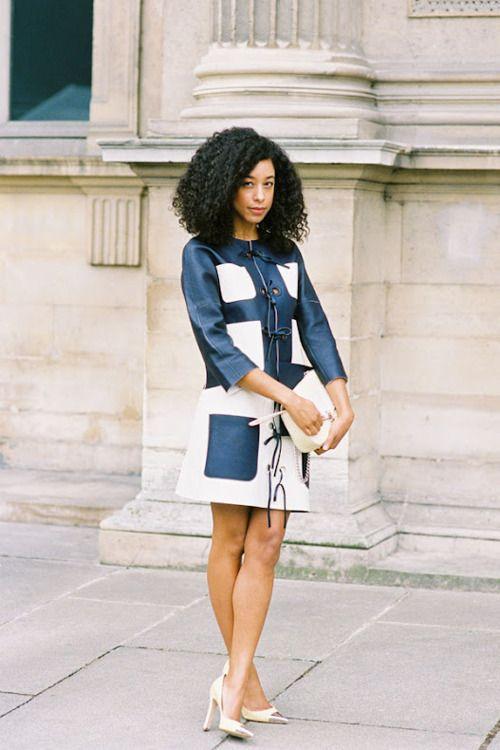 Corinne Bailey Rae, after Louis Vuitton (in Louis Vuitton), Paris, March 2012.(image:vanessajackman)