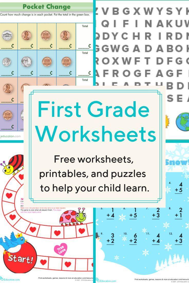 First Grade Worksheets Download Free Printable Worksheets For Reading Writing Ma First Grade Worksheets 1st Grade Reading Worksheets First Grade Curriculum Free education worksheets printable