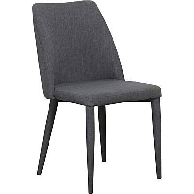 $179 Angus Dining Chair, Charcoal