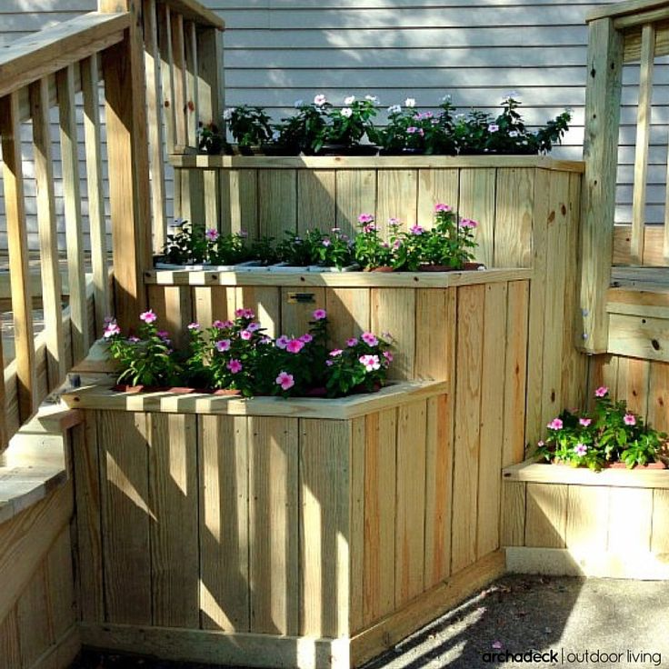 Deck Bench Seating: 117 Best Built In Deck Seating, Benches, Planters Images