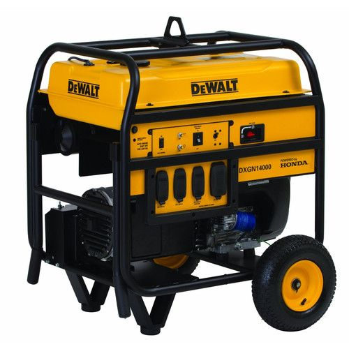 Dewalt DXGN14000 14,000 Watt Commercial Generator with Honda Engine and Electric Start