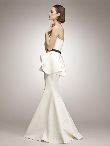 Isaac Mizrahi  25 Pretty Perfect Peplum Wedding Dresses