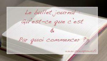 Le Bullet Journal : Qu'est-ce que c'est et Par quoi commencer ?