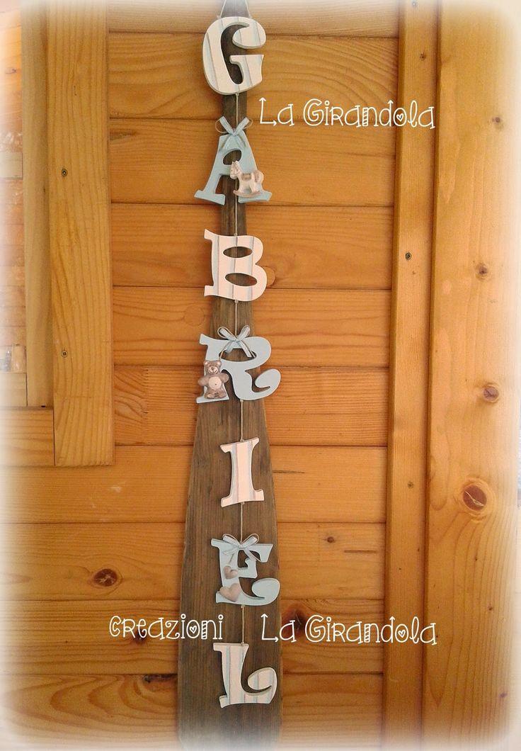 Oltre 25 fantastiche idee su nomi con lettere in legno su for Nomi in legno da appendere
