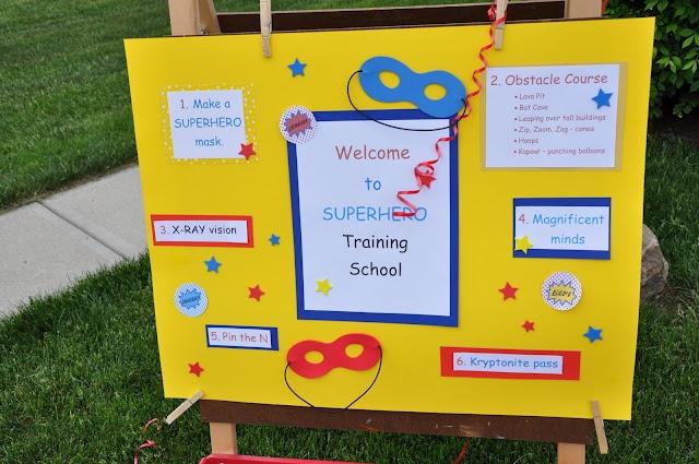 Super Hero Training School Board