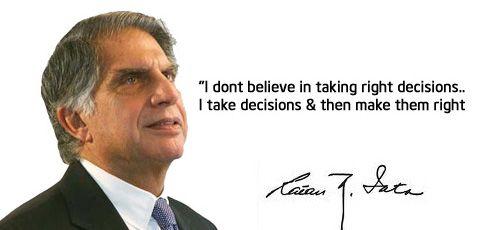 In Tribute to Shri Dhirubhai Ambani & Shri Ratan Tata, we are herewith Famous Quotes of Dhirubhai Ambani & Ratan Tata.