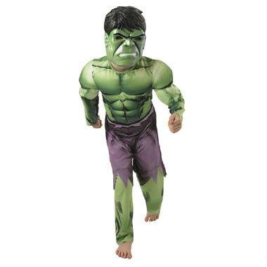 Hulk kostuum gespierde borst - maat 128/140  Ga verkleed als de held Hulk in deze gespierde jumpsuit met bijpassend masker!  EUR 28.89  Meer informatie