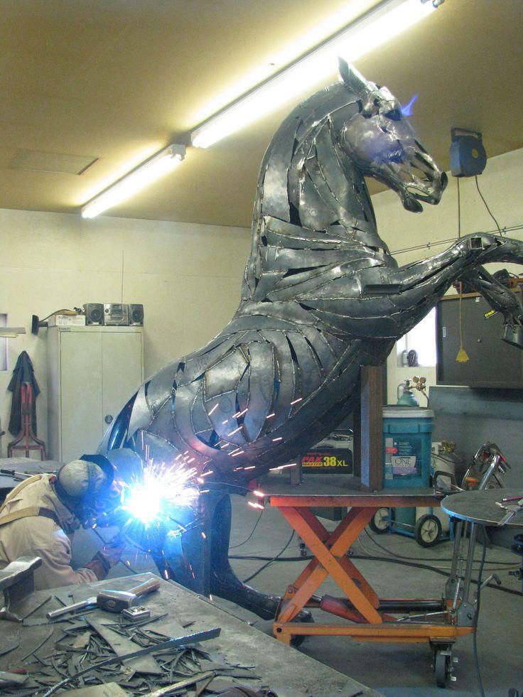 Horse Welding by artist Dwayne S. Cranford