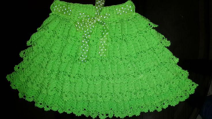 falda princesa verde