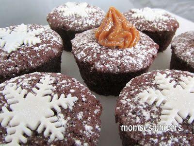 Momses Univers: Chokolademuffins med karamelfyld
