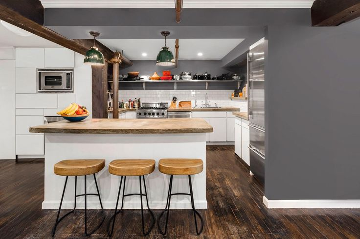 Jason Biggs and his wife, Jenny Mollen, have listed their Tribeca apartment for $3 million, reports Variety. The two actors bought the 2,200-square-foot unit back in 2013 and tapped designer Cliff Fong, cohost of Ellen's Design Challenge, to decorate it. There are two bedrooms plus a smaller room that could be converted into an office, along with two baths. In the master bath, exposed brick walls accent a marble-clad shower and his-and-hers vanity. The open-plan living/dining area stretches…