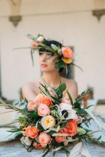 Romantic Bridal Shoot in Florence at Villa Di Maiano And Fattoria Di Maiano | Photos - Style Me Pretty