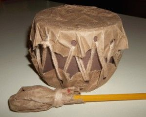 American Indian drum. Maybe we can make some of these that way the kids can play with makalyah for the sing along.