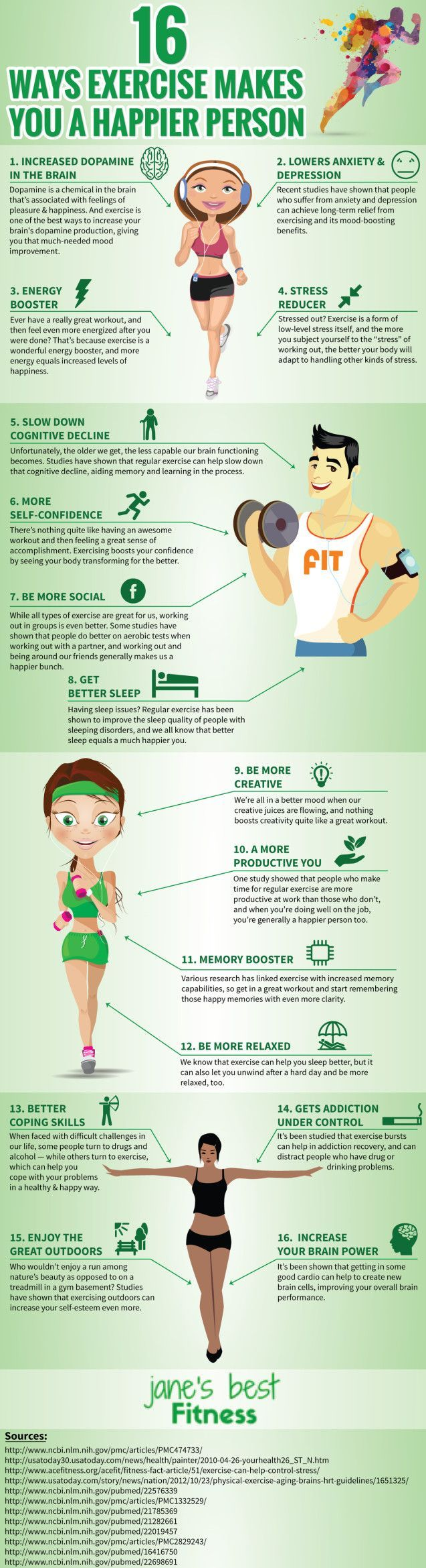 See more here ► https://www.youtube.com/watch?v=3qKhPjyBqW0 Tags: losing weight tip, home tips for weight loss, ten tips to lose weight - 16 Ways Exercise Makes You Happier (Infographic) - mindbodygreen.com