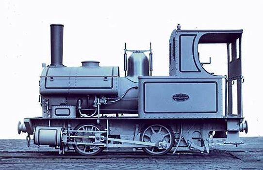 This 914mm gauge 0-4-0T locomotive (b/n 2043) was delivered to the Mount Bischoff Tin Mining Company in Tasmania in 1880.