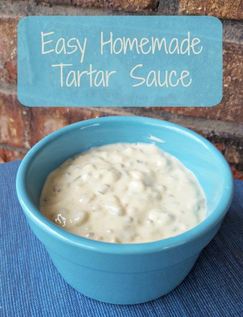 """Easy Homemade Tartar Sauce - Follow my simple recipe for this tasty condiment, perfect for fish, a burger, or even as a salad """"dressing"""""""