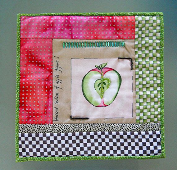 Apple-Of-My-Eye Quilt Wall Hanging by T-World Design ► http://etsy.me/1w2kxDL