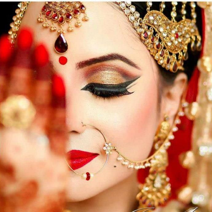 Wedding Nose Ring: 1000+ Ideas About Indian Bridal Hair On Pinterest