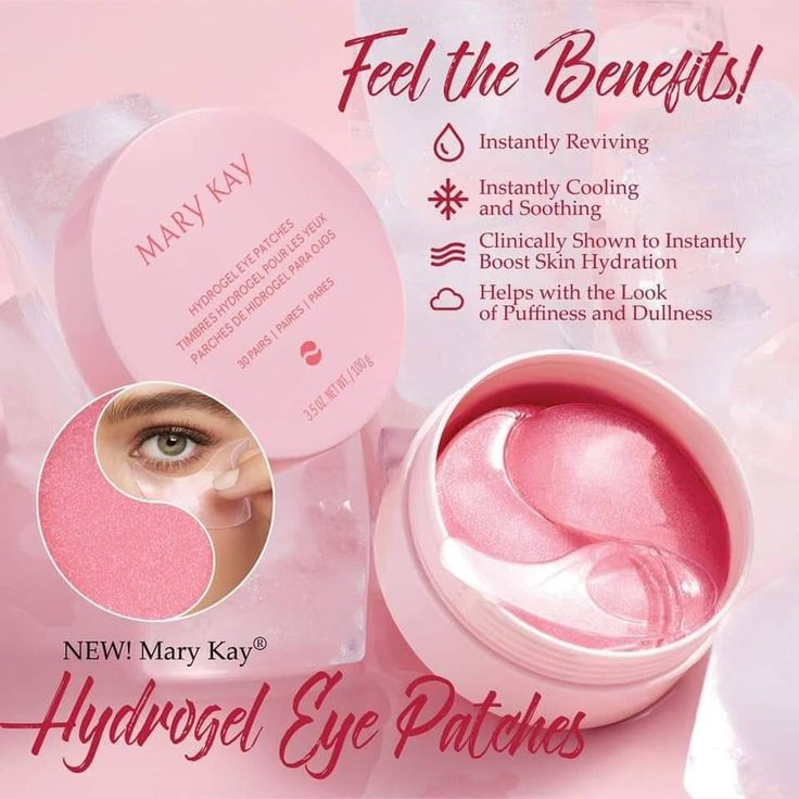 Feb 18, 2020 - New! Mary Kay Hydrogel Eye Patches! #marykay #new #hydrogeleyepatches