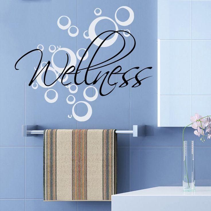 Wall decals wellness bubbles spa beauty salon health art mural home interior design vinyl decal - Stickers salon design ...