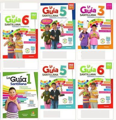 guías santillana en formato digital 2015 para los grupos de segundo a sexto de escuela primaria