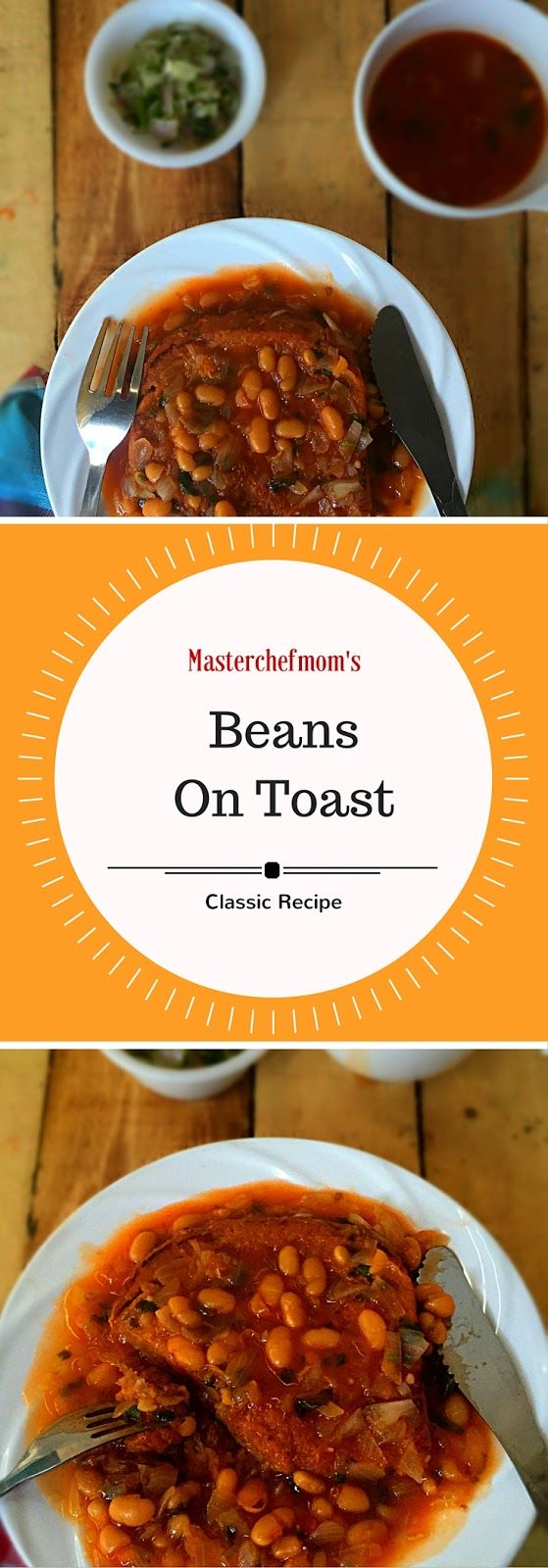 MASTERCHEFMOM: Beans On Toast | Restaurant Style Baked Beans On Toast | How to make Beans On Toast at Home | Continental Breakfast Recipe | Quick and Easy Recipe