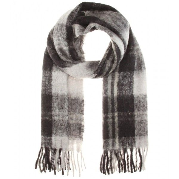 Marc by Marc Jacobs Blanket Check Scarf ($185) ❤ liked on Polyvore featuring accessories, scarves and black