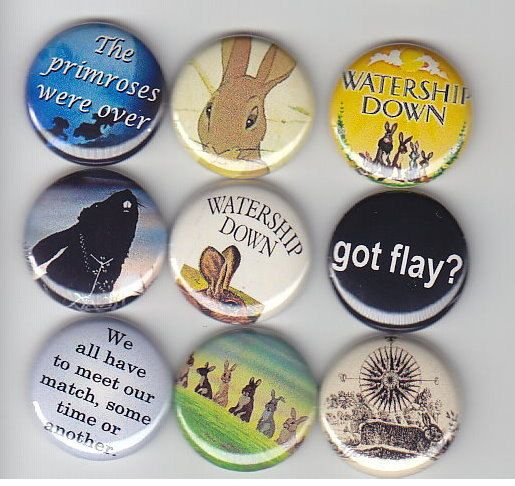 "WATERSHIP DOWN Classic 9  Pinback 1"" Buttons Badges Pins. $10.00, via Etsy."
