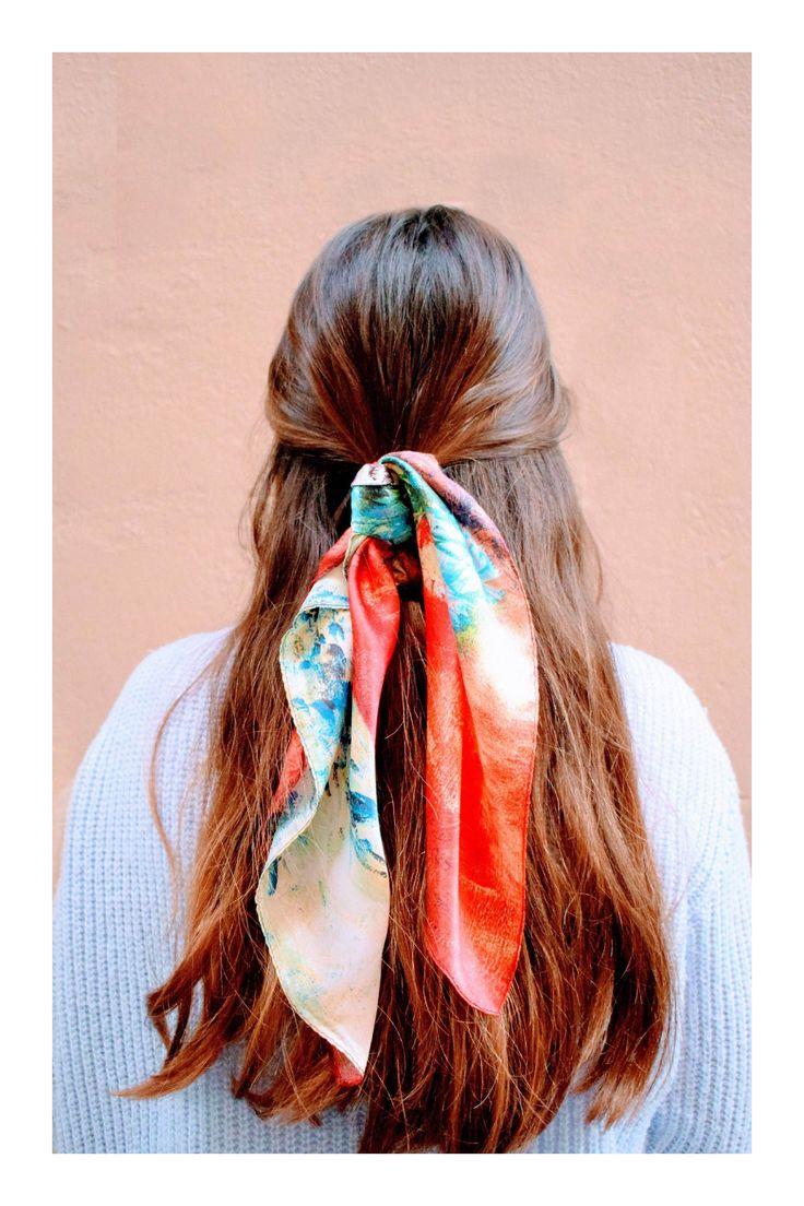 Hairstyles with bandana Haar Schal Krawatte Pferdeschwanz - Lange Frisuren Foulard Tie Ponytail - Coiffures Longues Scarf Hairstyles, Pretty Hairstyles, Braided Hairstyles, Bandana Hairstyles For Long Hair, Toddler Hairstyles, Teenage Hairstyles, Perfect Hairstyle, 1940s Hairstyles, Fashion Hairstyles