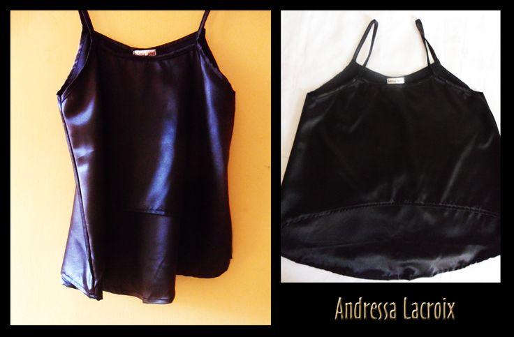 Top Black-Noir Satén (GLAM) by Andressa Lacroix
