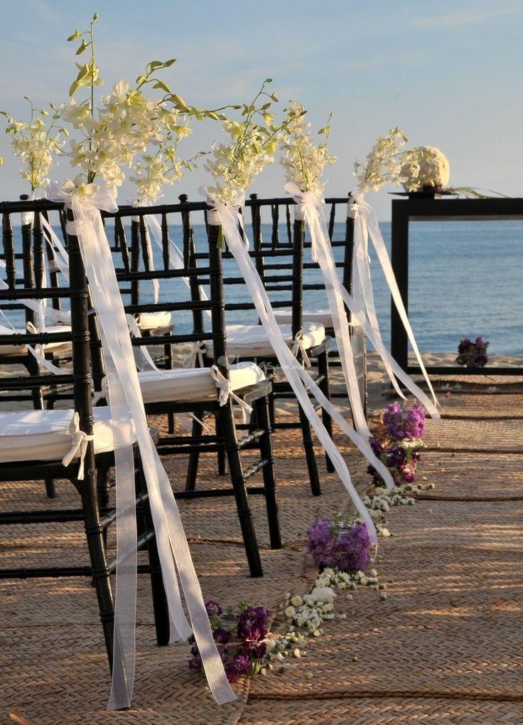 C Mo Decorar Las Sillas De Una Boda En La Playa Wedding