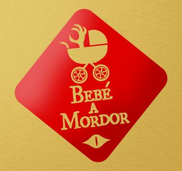Bebe a Mordor invertido #vinilos #vinilosdecorativos #vinilospersonalizados #vinilosadhesivos #coche #tuning #hondatuning