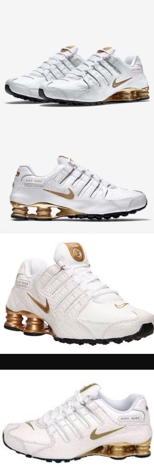 Other Mens Clothing 313: Nwt Mens Nike Shox Nz Pa Running Shoes - White Metallic Gold- 724531-100 -Sz-10 -> BUY IT NOW ONLY: $158 on eBay!