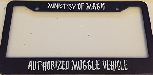 Ministry of Magic Authorized Muggle Vehicle - Harry Potter Style - Automotive Black License Plate Frame Stickysight.com http://www.amazon.com/dp/B00XAS406E/ref=cm_sw_r_pi_dp_2Nz0wb13VBJRW