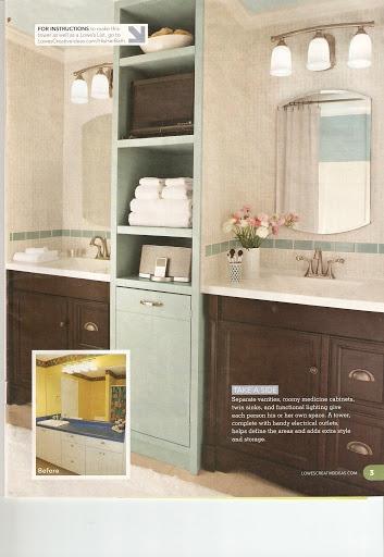 lowes vanities shelves forward bathroom makeover idea from lowes com i