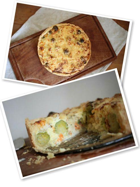 Herzhafte Rosenkohl-Torte mit Geflügel