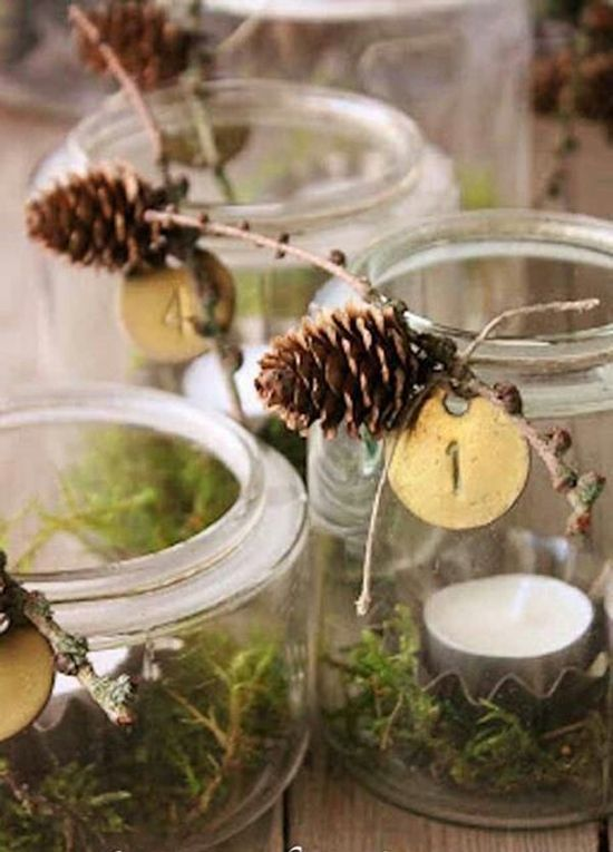 Pots Masson Centres De Table Faciles Faire Soi M Me Christmas And New Year Pinterest