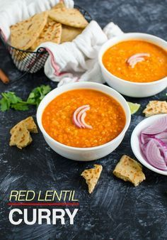 Indian styled red lentil curry. Vegan, gluten free & healthy dish
