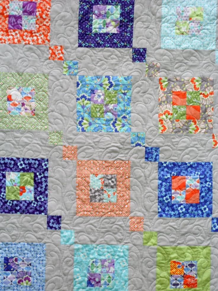 Modern Free Motion Quilting Patterns : Modern Quilt Pattern - Fair & Square - Sizes Crib to Queen- Layer Cak?