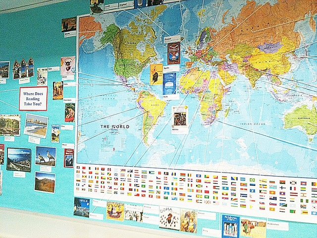 Read Around the World 2011-2012 bulletin board by yucaree, via Flickr