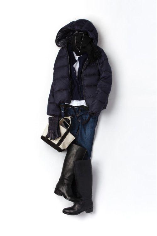 コーディネート詳細(いつものアイテムをネイビー×ブラックで着る)| Kyoko Kikuchi's Closet|菊池京子のクローゼット