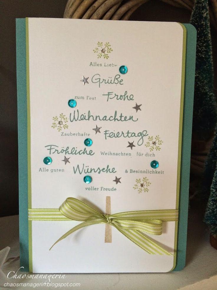 Wünsche zum Fest Stampin´ Up! SU Weihnachten Christmas Card