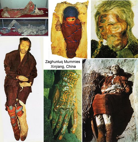 The Tarim mummies are a series of mummies discovered in the Tarim Basin in present-day Xinjiang, China, which date from 1800 BCE to 200 CE. Some of the mummies are frequently associated with the presence of the Indo-European Tocharian languages in the Tarim Basin although the evidence is not totally conclusive.  At the beginning of the 20th century European explorers such as Sven Hedin, Albert von Le Coq and Sir Aurel Stein all recounted their discoveries of desiccated bodies in their…