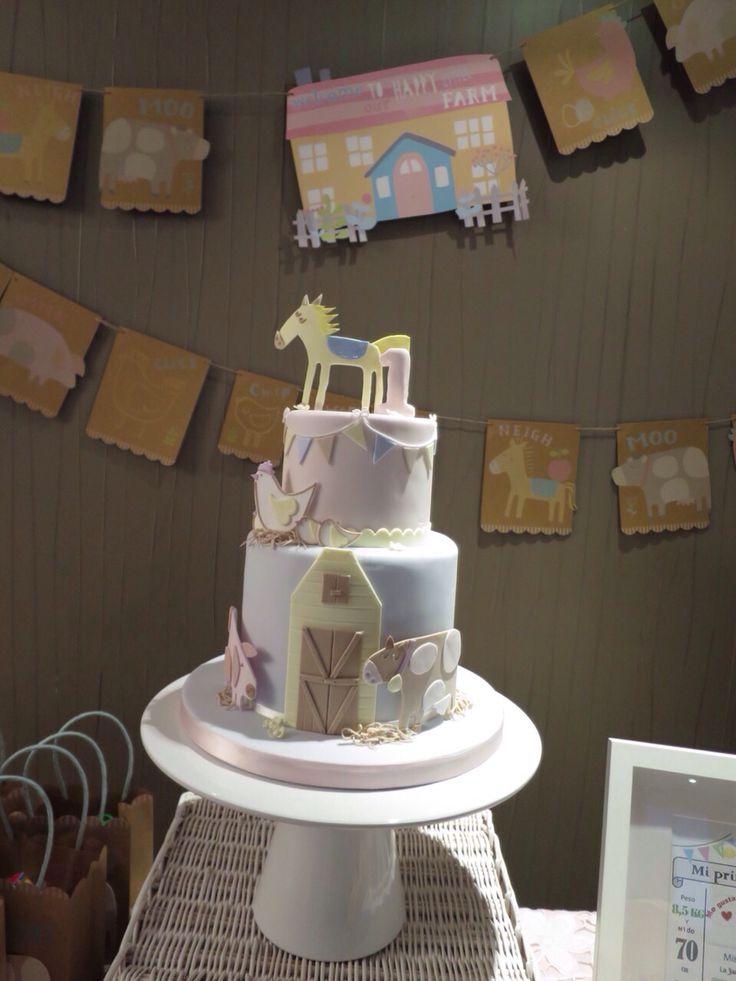 The happy little farm cake
